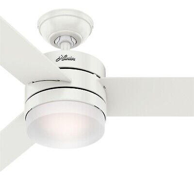 Hunter Fan 54 inch Contemporary Fresh White Ceiling Fan with Remote Control