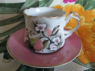 Lot 2 Lefton China Tea Cup And Noritake China Japan Saucer Handpainted Unused
