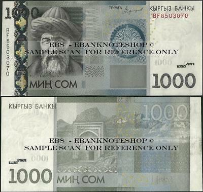 Kyrgyzstan,PNew,2016/2017,1000 Som, Uncirculated @Ebanknoteshop