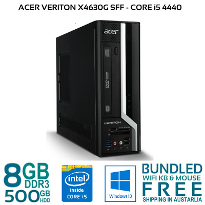 Acer Veriton X4630G SFF Computer i5-4440 4/8GB 500GB HDD W10 Desktop PC KB MOUSE