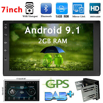 "2DIN Android 8.1 Car Stereo Radio 7"" HD Screen MP5 WIFI 4G FM Player GPS Unit"