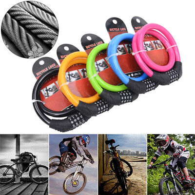 Cute Color Cycling Security 4 Digit Combination Bike Bicycle Cable Chain Loc IO