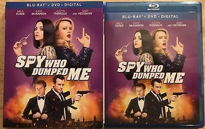The Spy Who Dumped Me Blu Ray + Dvd 2 Disc Set With Slipcover Free Shipping