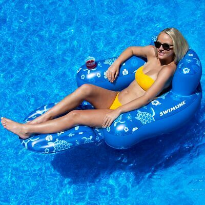 Phenomenal Swimline Inflatable Folding Lounge Chair Float For Swimming Ocoug Best Dining Table And Chair Ideas Images Ocougorg
