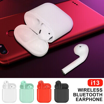 i13 TWS Wireless Bluetooth 5.0 Earbud Mini Earphone Headphone Touch Control NEW