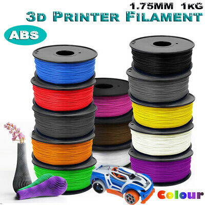 3D Printer Printing Filament ABS 1.75mm 1KG Spool Hot Colour Accuracy +/- 0.02mm