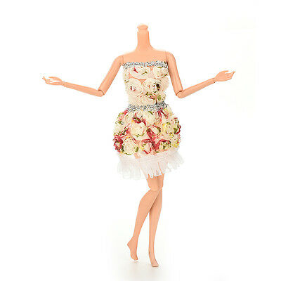 Fashion Handmade Clothes Flower Dresses Package Hip Skirt For  Doll JB