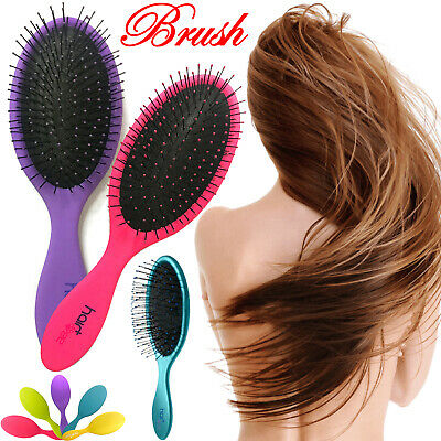 Professional Women Saloon Brush Real Wet Detangling Style HairBrush Full Size UK