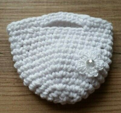 Wedding Miniature Favour Bags Hand Crocheted Table Décor Key ring Option 2 keep