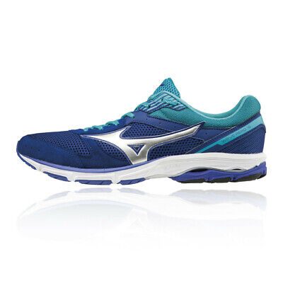 9efb2e0857d0 Mizuno Mens Wave Aero 16 Running Shoe Navy Blue White Sports Breathable
