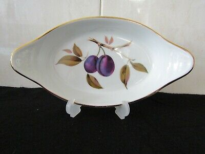 "ROYAL WORCESTER –""EVESHAM GOLD"", AU GRATIN BAKING DISH, Oval 9x4¾x1¼"" NEW,1980's"