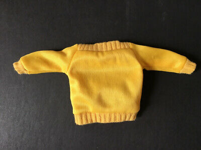 Sindy Casuals 1984 Mix Match yellow long sleeve boat neck top 43002 ShimmyShim