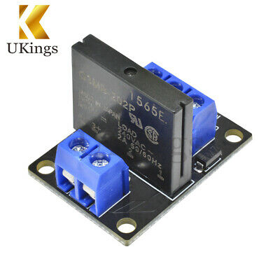 DC 5V 1 Channel SSR Board Solid State Relay Module High Level OMRON Fuse Arduino