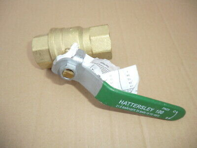 "Hattersley 1"" Female Dn20 Lever Ball Valve New"