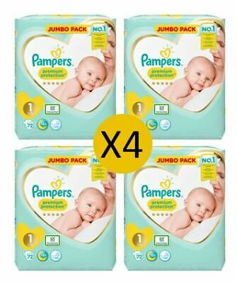 Pampers Nappies New Baby Size 1 Newborn, 72 nappies (4 x 72)