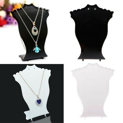 Necklace Pendant Chain Earring Jewelry Bust Display Holder Stand Showcase Rack