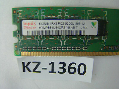 HYNIX HYMP564U64BP8-Y5 AB-T 512MB 1Rx8 DDR2 PC2-5300U-555-12 667MHz 240-PIN