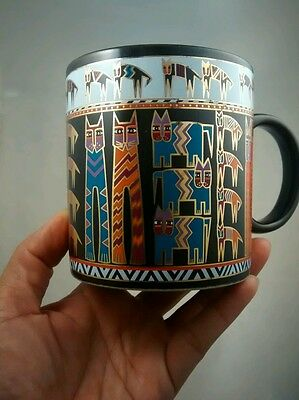 Very nice Laurel Burch gold tone painted Egyptiancats  mug cup