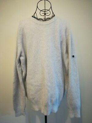 Stone Island Men Jumper Cardigan Knitted White Size XL