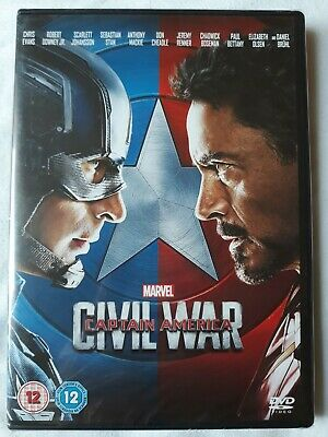 sealed marvel captain America civil war dvd