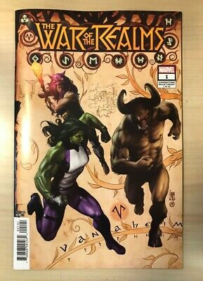 WAR OF THE REALMS # 1 -  Camuncoli Connecting Variant - Jason Aaron - Marvel