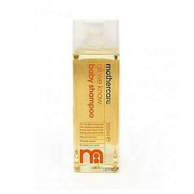 Mothercare All We Know Baby Shampoo 300ml Baby Hair Wash Naturally Free Shipping