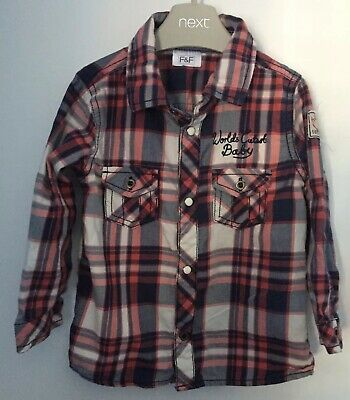 Boys Age 12-18 Months - Checked Shirt