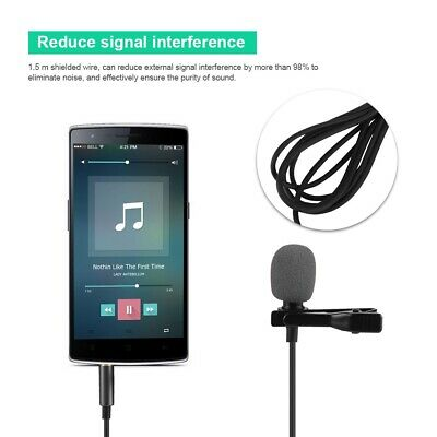 Mini Wired Lavalier Lapel Clip Condenser Microphone 3.5MM Clip-on Tie Mic Phone