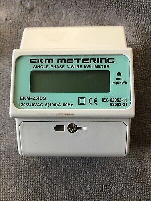 Electric kWh Meter, 100A 120/240 Volt, 3-Wire, 60Hz