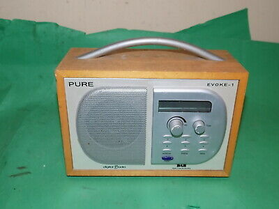 PURE EVOKE-1 DAB Digital Wooden Case Radio DAB FAULTY -NO Adaptor