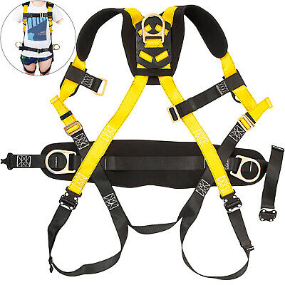 Safety Harness Construction Harness Full Body W/3 D-Ring Fall Protection Unisex