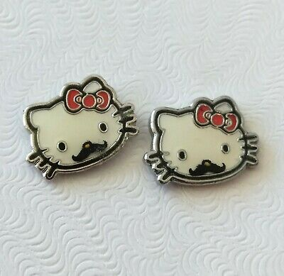 14d620329 AUTHENTIC SWAROVSKI CRYSTAL Sanrio Hello Kitty Pierced Earrings ...