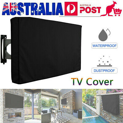 "30""-60"" Inch Waterproof TV Cover Outdoor Patio Flat Television Protector Black"