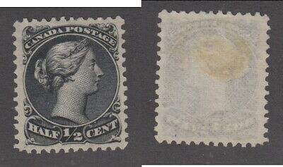 Mint Canada 1/2 Cent Queen Victoria Large Queen Stamp #21 (Lot #14973)