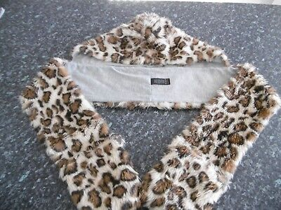 Girl's Hat Scarf& Gloves In One Set - Leopard Print - Next - Age 14 -16 Years