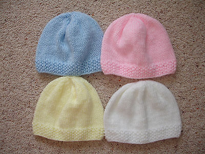 Brand New Hand Knitted Baby  #Newborn# Beanie Hat