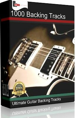 1000 Pro Rock Pop Guitar Backing Tracks Collection Jam Tracks Karaoke