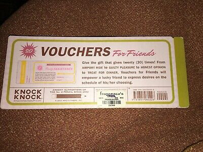 Knock Knock VOUCHERS For Friends 20 Vouchers For Them To Turn In Ride Night Out