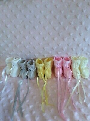Brand New Hand Knitted Newborn Baby  Bootees