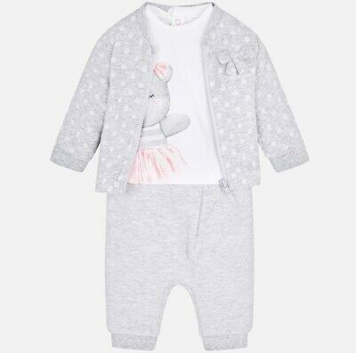 New Baby Girl Mayoral Bear Design Tracksuit, Age Newborn, (1812)