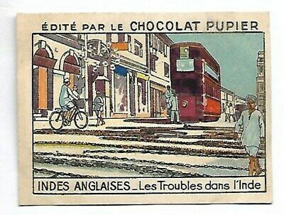 Indes Anglaises - Troubles Inde - Image chocolat Pupier - French Card