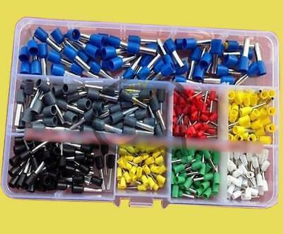 400pcs Copper Crimp Connector Insulated Cord Pin End Terminal AWG 22 to 10 Kit