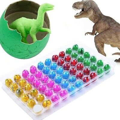 Fantasy 60pcs Mini Colored Dinosaur Eggs Dino Pet Hatching /& Growing Toy #B