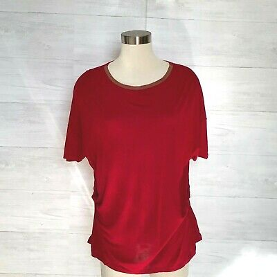 bb808e544543 Ellen Tracy Top Women Size XL Soft comfort Knit Career Pullover Ruch  Embelished