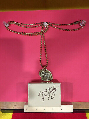 Bichon Frise Goldtone Pendant On Chain With Gift Box