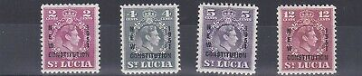 St Lucia  1951  New Constitution Set Mh