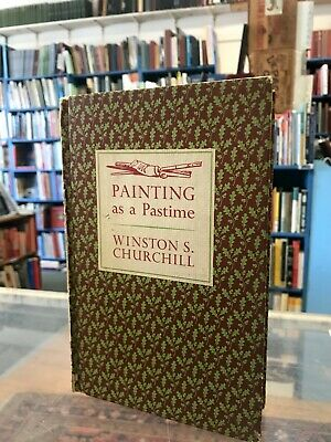 Painting as a Pastime By Winston S Churchill, 1965 Hard Cover
