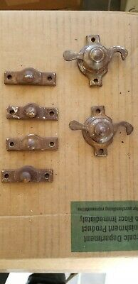 2+ Matching Antique cast iron  Window Sash Lock Sets,  Victorian 1887
