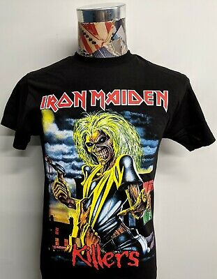 New Iron Maiden Killers Classic Full Color Eddie Bloody Ax Black Rock T Shirt