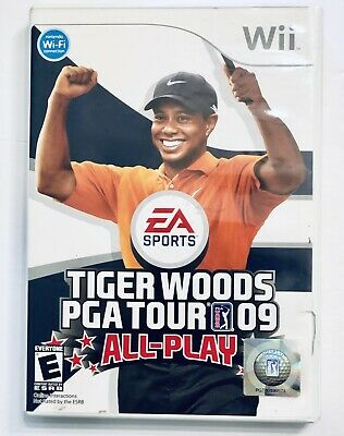 Tiger Woods PGA Tour 09: All-Play (Nintendo Wii, 2008) Works Perfectly!